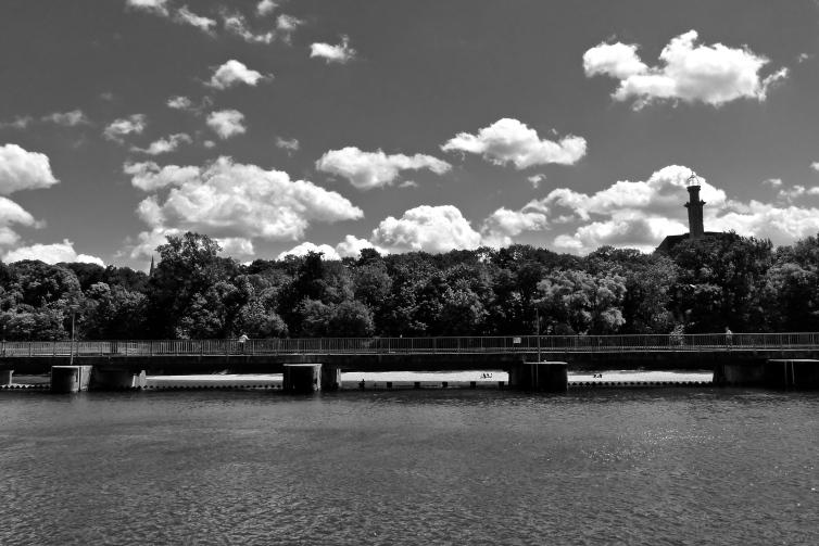 Wolken über Isar