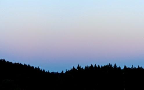Abendhimmel überm schwarzen Wald