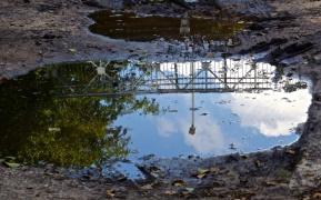Brücke über die Pfütze