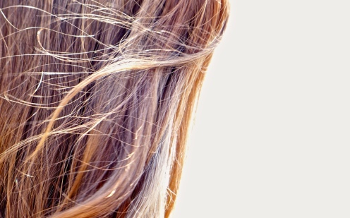 Haar im Wind