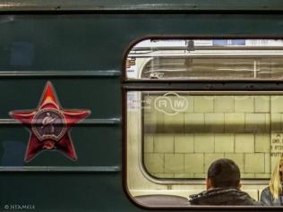 Mensch in Metro