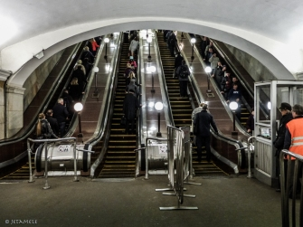 Rolltreppe aufwärts