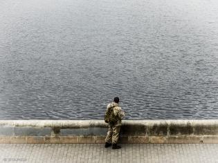 Angler an der Wolga